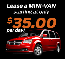 Lease a minivan for $35 a day!